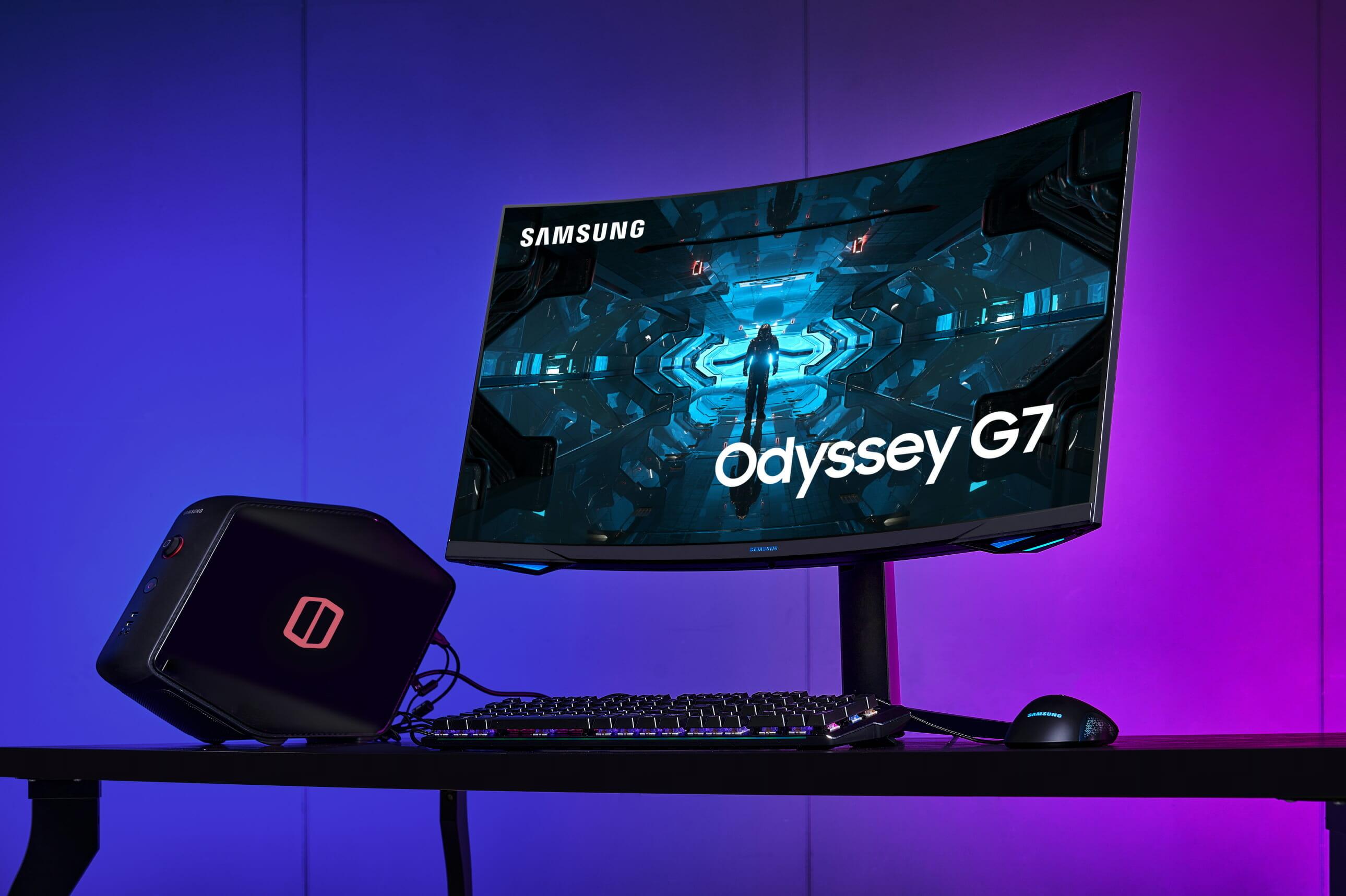 Presenta Samsung monitor curvo Odyssey G7